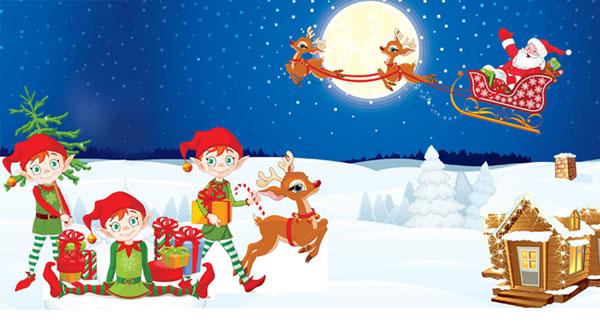 skattjakt barn julfest