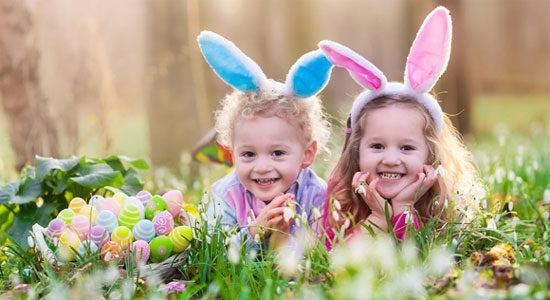 Äggjakt och skattjakt till påsk